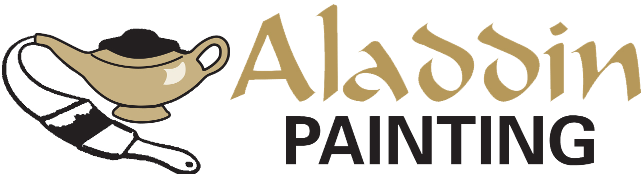 exterior house painting services , quality painting, alladdin painting logo